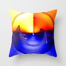 sub sonic waves Throw Pillow