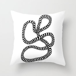 Striped Lump of Rope Throw Pillow