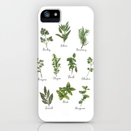 HERBS on white iPhone Case
