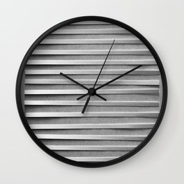 Arranged Strips of Paper (A Study of Light) Wall Clock