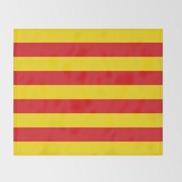 Catalan Flag - Senyera - Authentic High Quality Throw Blanket