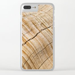 Weathered Wood Grain Clear iPhone Case