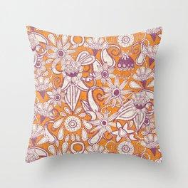 sarilmak tangerine damson Throw Pillow