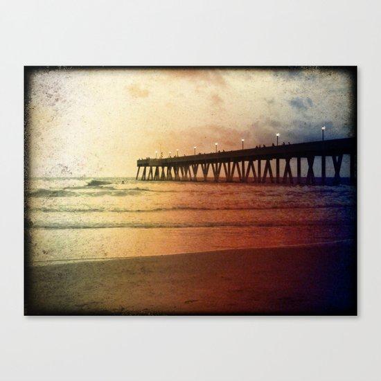 Johnny Mercer's Fishing Pier Canvas Print