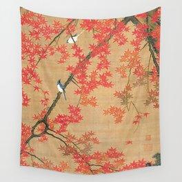 Flowers Japanese U-kiyo Wall Tapestry