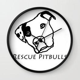 Rescue Pitbulls Logo Wall Clock