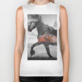 Black Horse Sunset Run Biker Tank