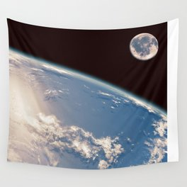 Earth and Moon Wall Tapestry