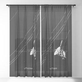 CASSINI-HUYGENS Sheer Curtain