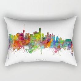 Beijing China Skyline Rectangular Pillow