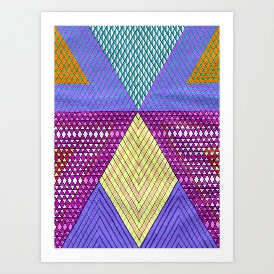 Isometric Harlequin #9 Art Print