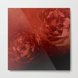 Wonderful flowers in soft red colors Metal Print