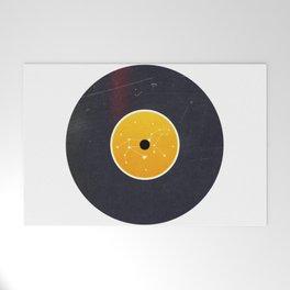 Vinyl Record Star Sign Art   Leo Welcome Mat
