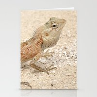 lizard Stationery Cards featuring Lizard by Bonjourik