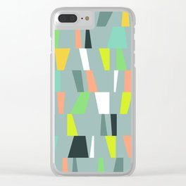 Modern Geometric 41 Clear iPhone Case
