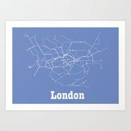 London Subway Poster Art Print