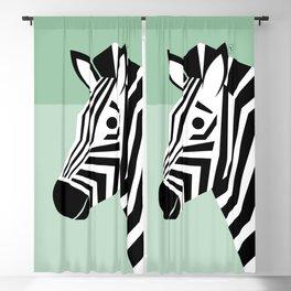 Zebra, African Wildlife, geometric Blackout Curtain