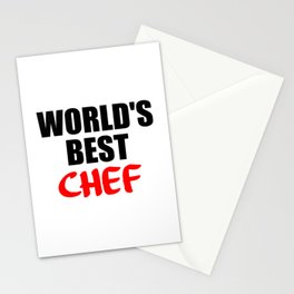 worlds best chef Stationery Cards