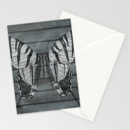 Wood Butterfly Stationery Cards