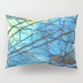 Royal Labradorite Crystal Agate Gemstone Print Pillow Sham