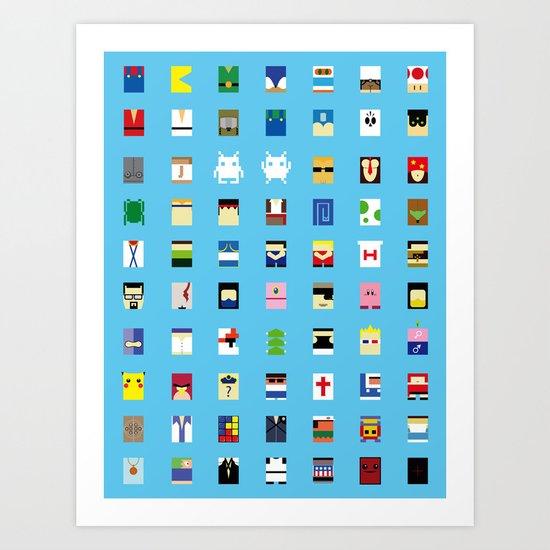 Minimalism beloved Videogame Characters Art Print