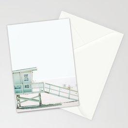 Lifeguard Tower California Beach Life Stationery Cards