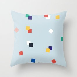 Here and Square Pattern Throw Pillow