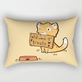 Will Work 4 Treats Rectangular Pillow