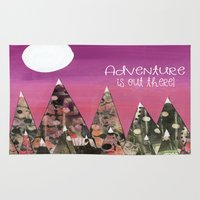 adventure is out there Area & Throw Rugs featuring Adventure is out there by E.Seefried Art