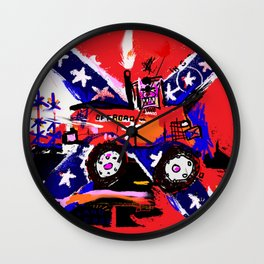 Road Race Pig Wall Clock