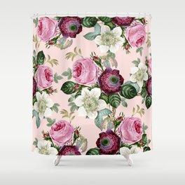 Floral enchant - blush Shower Curtain