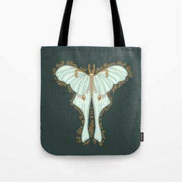 Matthew 6:20 - Bible verse moth illustration Tote Bag