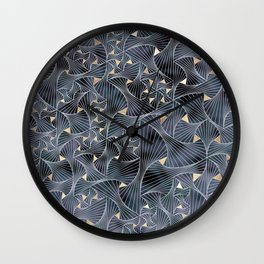 Reverie (in Grey and Gold) Wall Clock