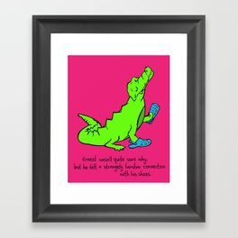 Ernest the Croc Framed Art Print