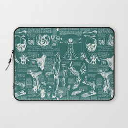 Da Vinci's Anatomy Sketchbook // Genoa Green Laptop Sleeve