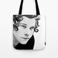 harry Tote Bags featuring Harry by GirlApe