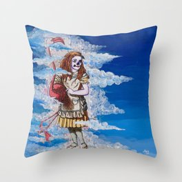 Alice in Clouds Throw Pillow