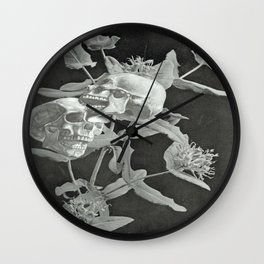 Skullflower Two Wall Clock