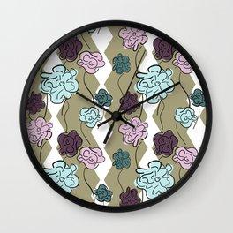 Hex Garden Wall Clock