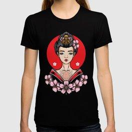 Tattooed Japanese geisha, Japan art T-shirt