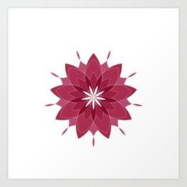 Sacred Geometry Cosmic Flower Art Print