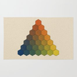 Lichtenberg-Mayer Colour Triangle (Opera inedita - Vol. I, plate III), 1775, Remake, vintage wash Rug