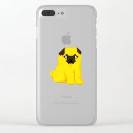 Exel Pug Clear iPhone Case