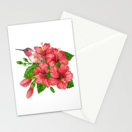 Tropical bouquet Stationery Cards