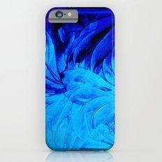 PETAL PINWHEELS - Deep Indigo Blue Royal Blue Turquoise Floral Pattern Swirls Ocean Water Flowers iPhone 6s Slim Case