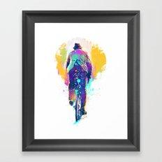GO BIKE Framed Art Print
