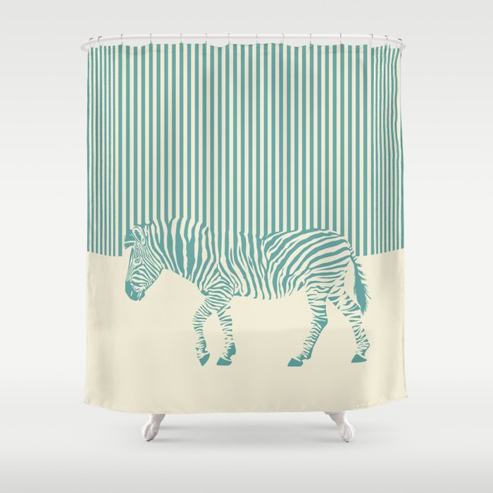 Zebra Shower Curtain By Theredwolf
