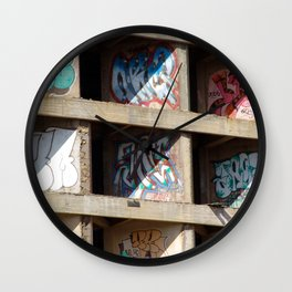 Cocrete Graffiti Wall Clock