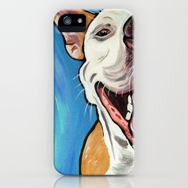 Smiling Pit Bull  iPhone Case