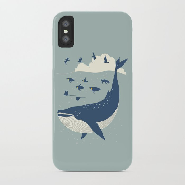 Fly in the sea iPhone Case